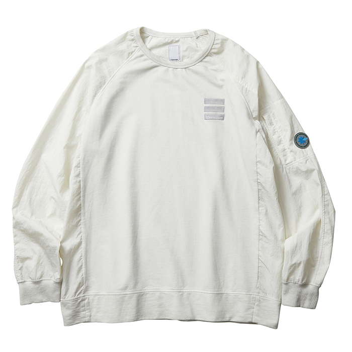 OVERDYED NYLON SLEEVES CREWNEC...